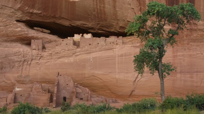 Cliff dwelling at Canyon De Chelly