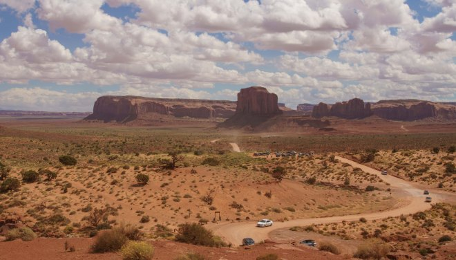 Overview of the loop drive in Monument Valley