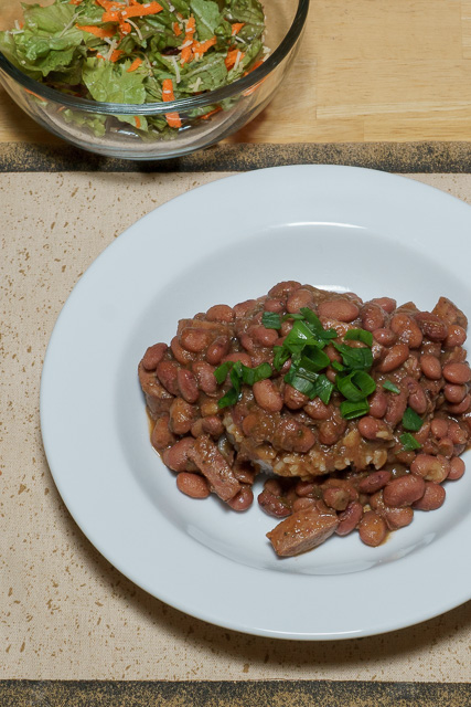 Dinner is served - Red beans and rice