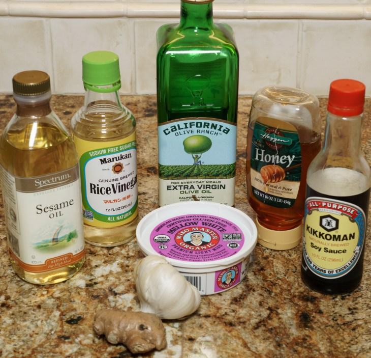 Miso-ginger salad dressing ingredients