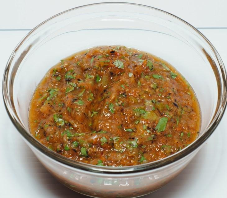 Roasted tomato salsa!