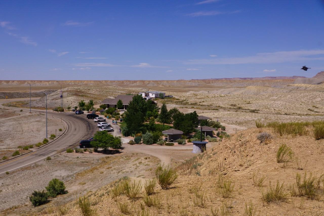 Rest stop in the eastern Utah desert