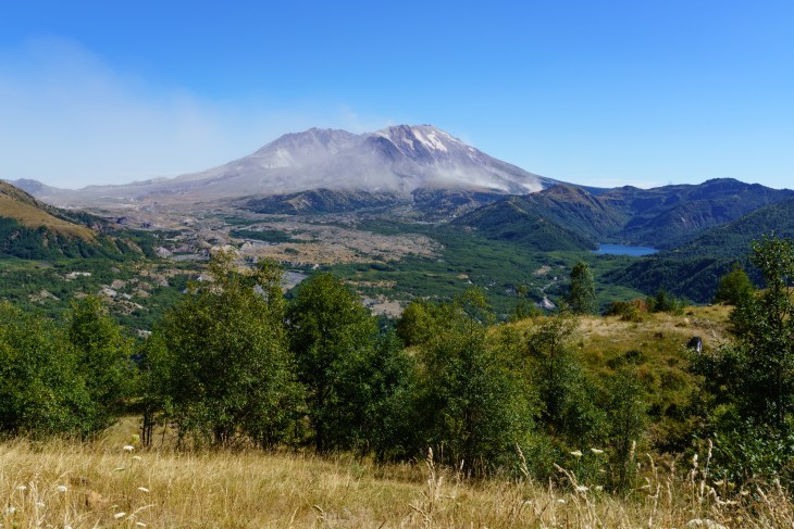 Mt St Helens as seen from the Castle Lake Viewpoint