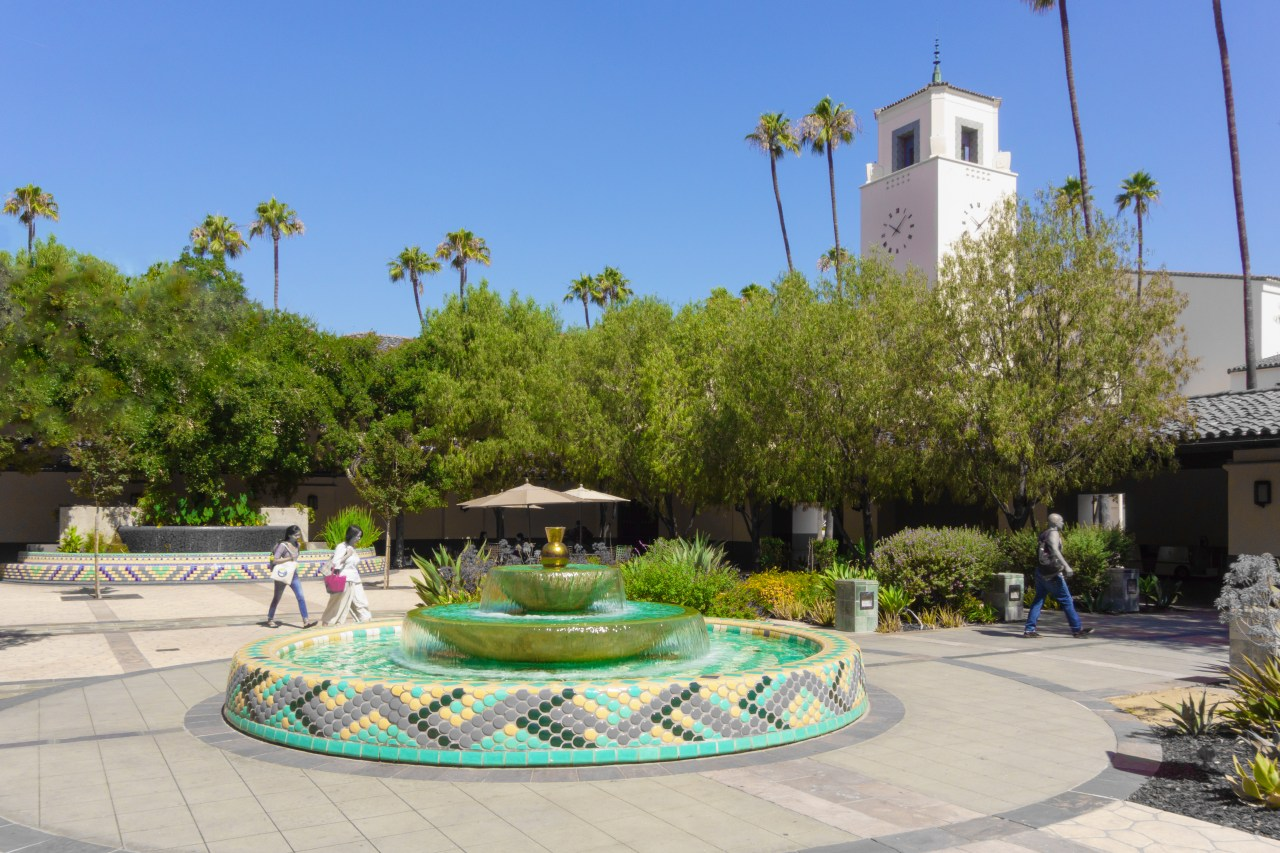 One of the Los Angeles Union Station courtyards