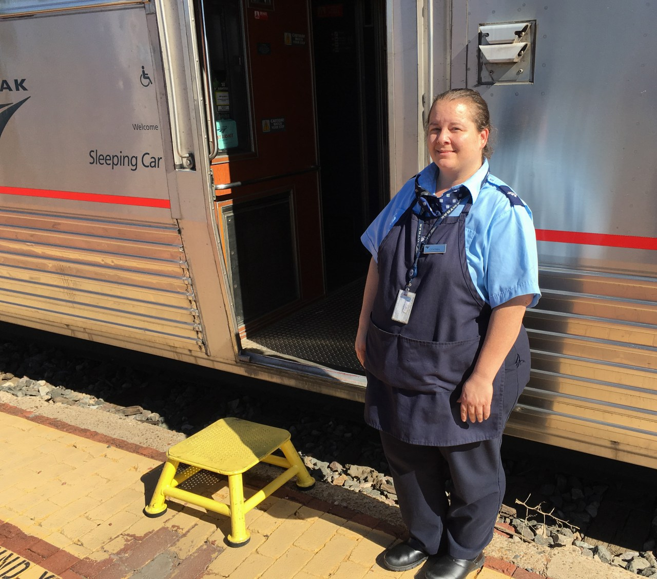 Cynthia - our car attendant on the Southwest Chief