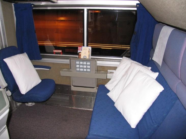 Amtrak SuperLiner bedroom.