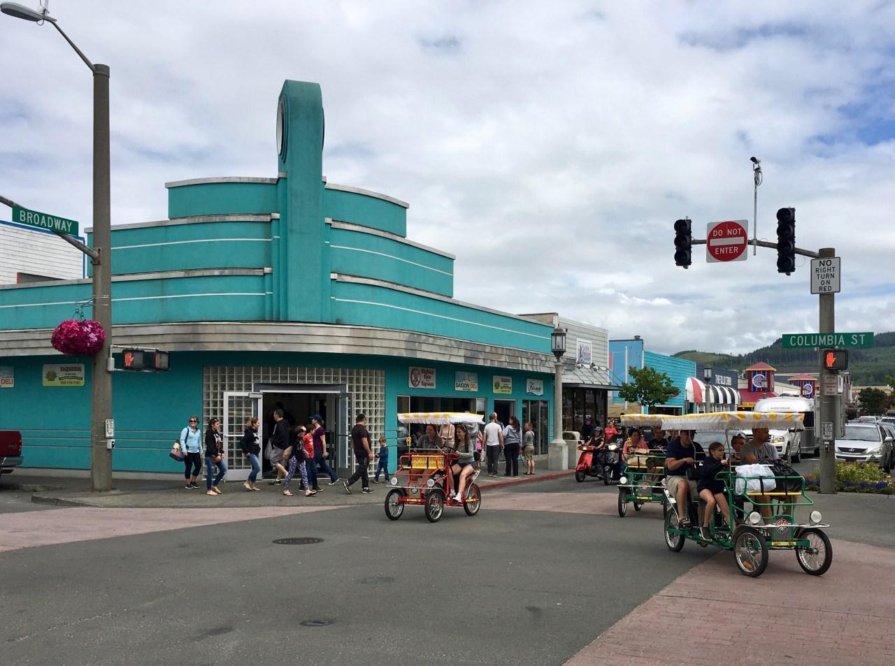 Broadway and Columbia at Seaside, Oregon