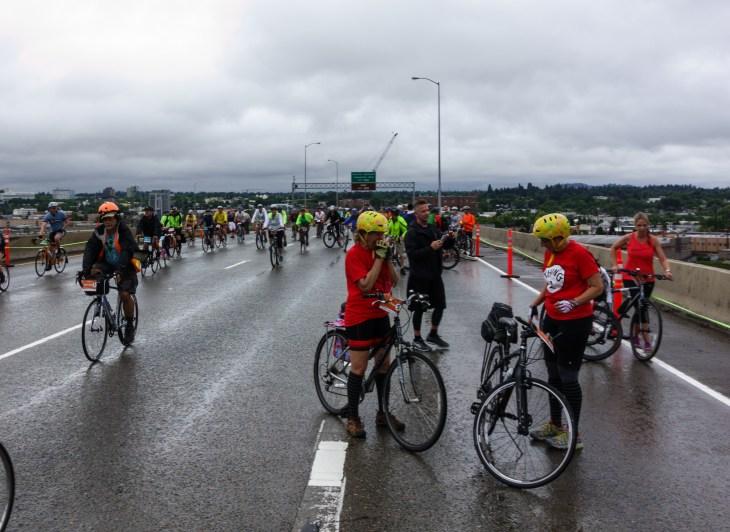 Providence Bridge Pedal/Stride on the Marquam Bridge