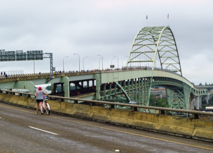 Approach to the Fremont Bridge