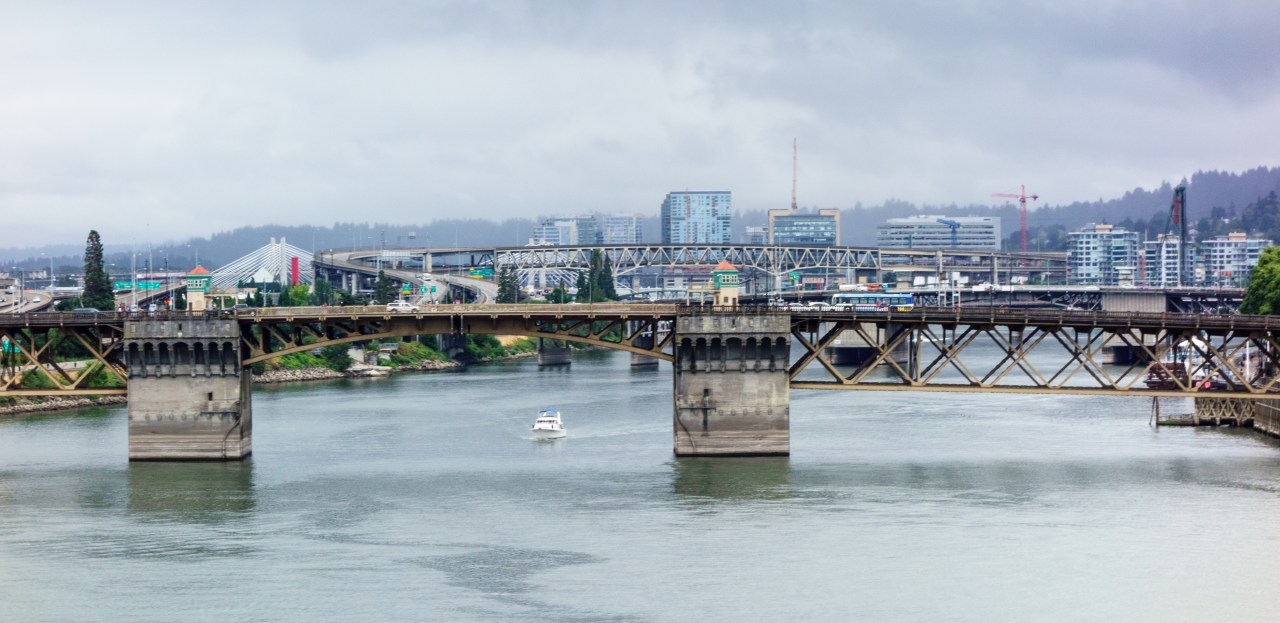 Looking south from the Steel Bridge