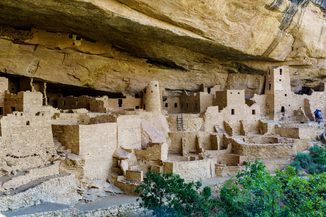 """Street Level"" view of Cliff Palace in Mesa Verde, Colorado"