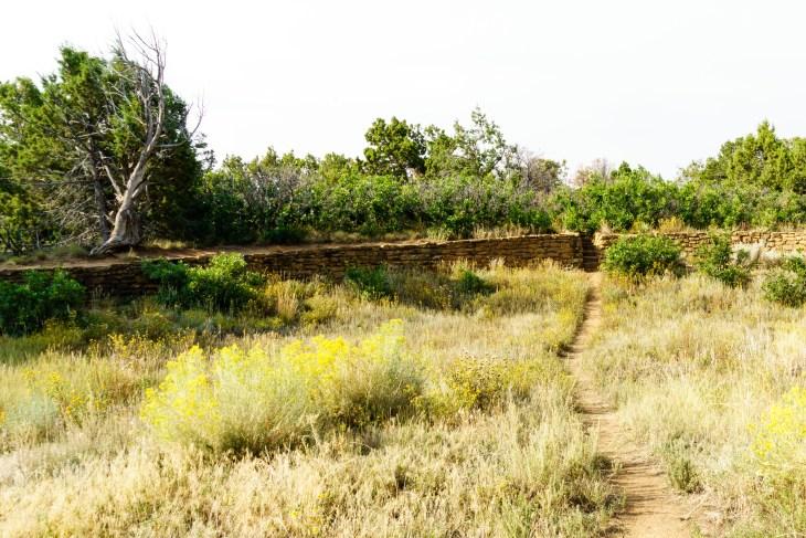 Ancient Puebloan reservoir at Mesa Verde, Colorado