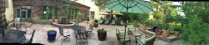 Patio: La Posada Hotel - Winslow, Arizona