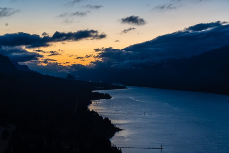 Looking up the Columbia River from Cape Horn Lookout