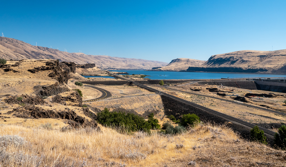Columbia River overlook near John Day Dam