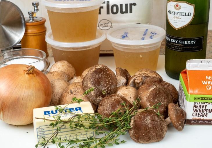 Cream of mushroom soup ingredients.