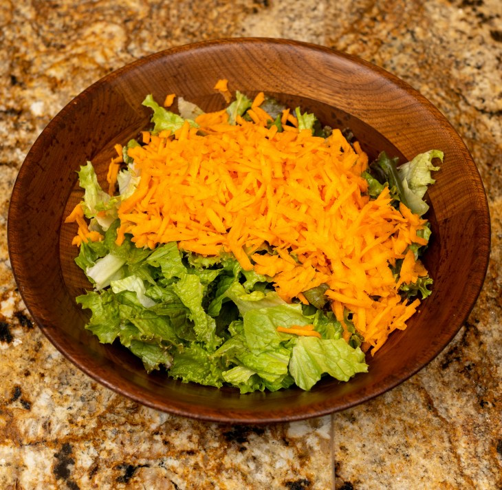Tossed salad for dinner
