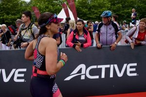 ironman 70.3 Luxembourg région Moselle 2018 finish line red carpet 2fortri Marine