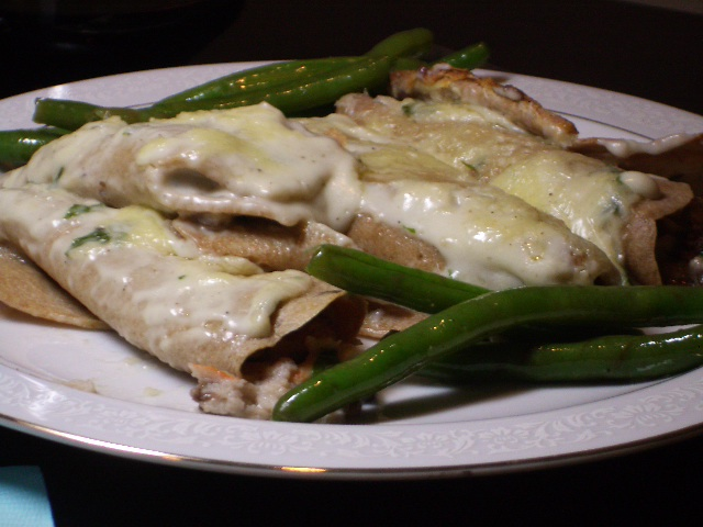 Mushroom and Crab Crepes  (1/3)