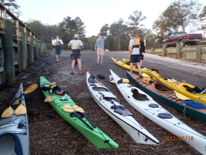 Crooked River State Park launch. As no supplies are available on Cumberland Island, we packed everything in our hatches.