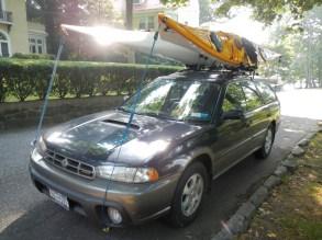 Kayak transportation vehicle with toys
