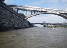 3:32 p.m. Seeking some shade on the Harlem River