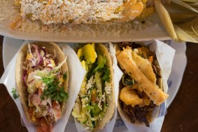 Taco Guild tacos with elote