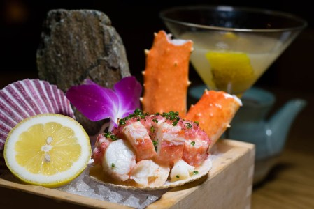 Chilled King Crab with Watermelon Radish Butter