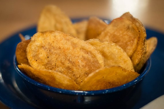 Famous Dave's Chips made fresh daily 2geekswhoeat.com #chips #bbq