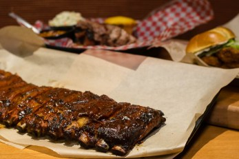 St. Louis Style Ribs at Famous Dave's 2geekswhoeat.com #bbq #ribs
