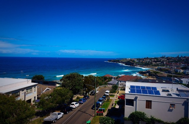 View from our hostel in Bondi looking over Tamarama