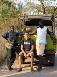 Jag tillsammans med vår guide och chaufför