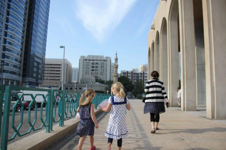 I närheten av vårt hotell i Abu Dhabi
