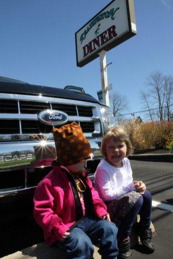 Lunchstopp längs vägen i New Jersey
