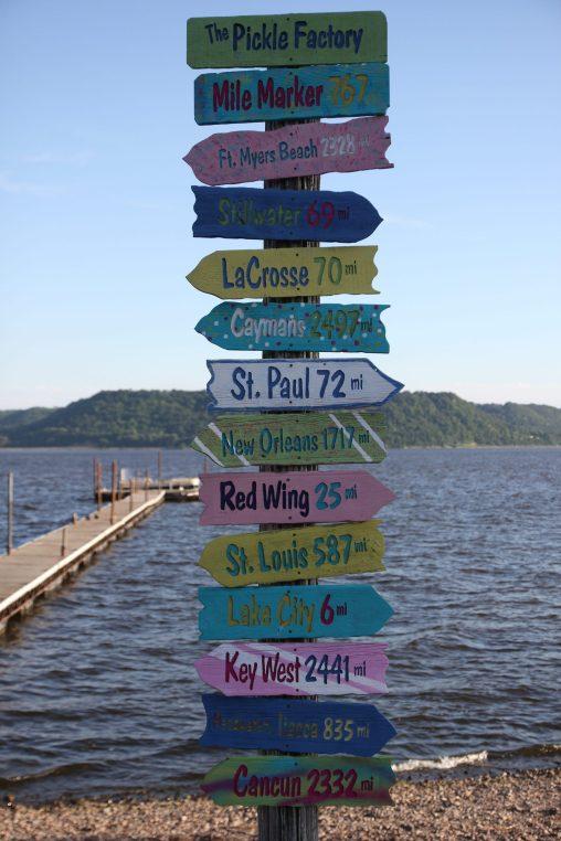Vid Lake Pepin, en del av Mississippifloden