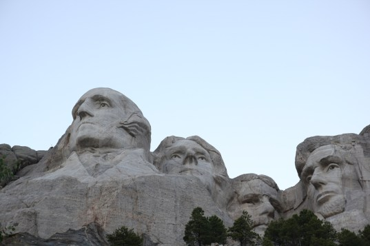 Washington, Jefferson, Roosevelt och Lincoln