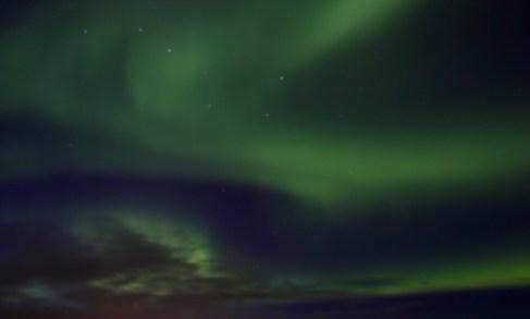 Norrsken över sydöstra Island