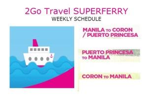 2Go Schedule Coron Puerto Princesa Manila