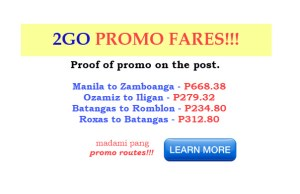 2go promo fares july and august