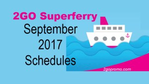 2Go Travel Schedule for September