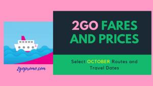 2go travel fares 2017 price list