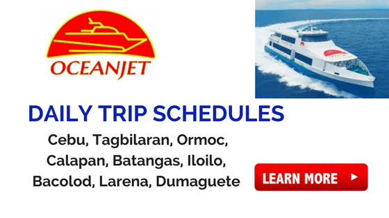 oceanjet daily schedules 2018 to 2019
