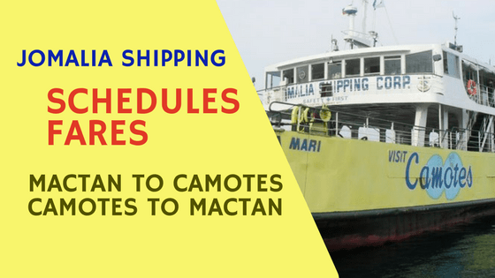 mactan to camotes to mactan jomalia shipping