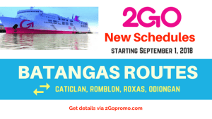batangas schedules 2go travel
