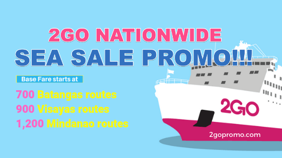 2go nationwide sea sale july to august