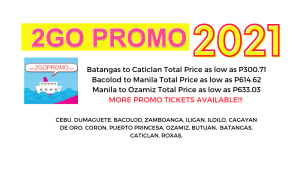 2go promo fares june to november 2021