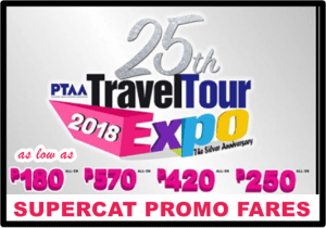 SuperCat_Promo_Fares_25th_PTAA_Travel_Tour_Promo_2018