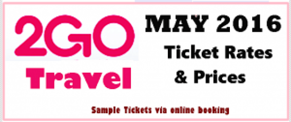2Go Travel Superferry Ticket Rates May 2016