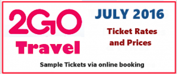 2Go Travel Superferry Ticket Prices July 2016