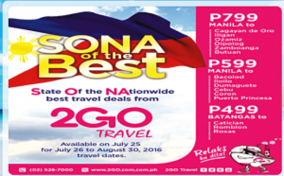 2Go Travel Promo Ticket 2016